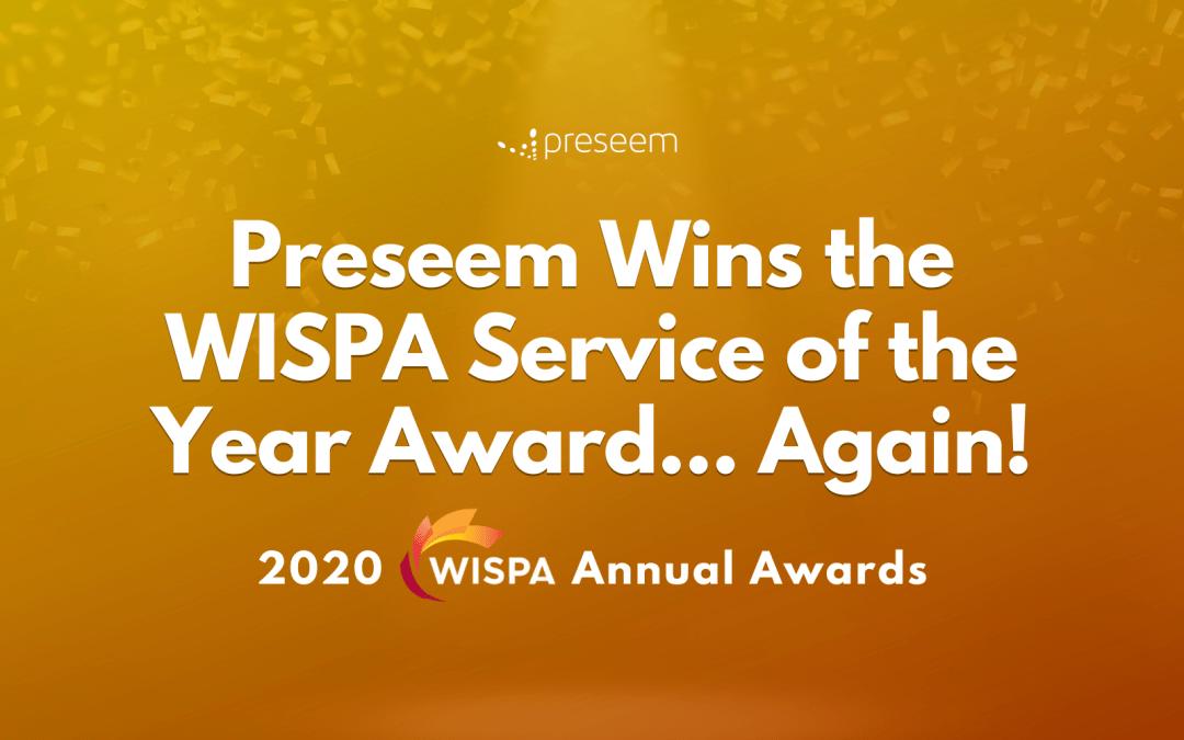 Preseem Wins the WISPA Service of the Year Award WISPA Awards 2020