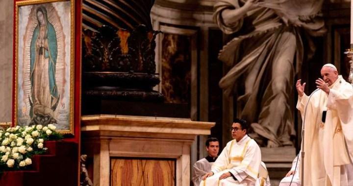 Papa Francisco: En la Virgen de Guadalupe, María se mestizó para ser madre de todos