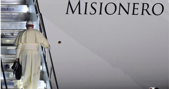 Avión que llegó con insumos médicos a México, trasladó al Papa en 2016