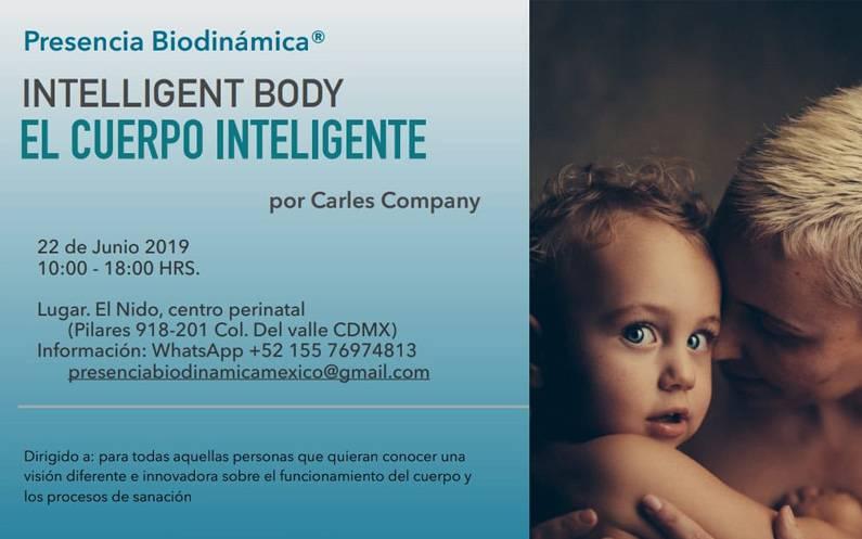 """22 de Junio. Taller """"El cuerpo inteligente"""" CDMX"""