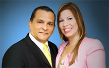 Apóstol Elvis Iván García y su esposa la Pastora Amarilys Ramos. (Foto/Suministrada)