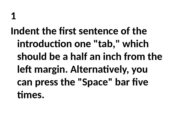 How to start a research paper first sentence