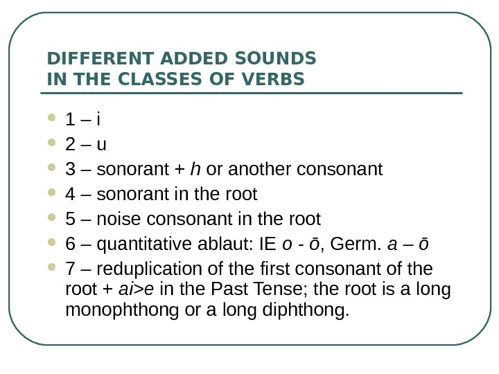OLD ENGLISH VERB GRAMMATICAL CATEGORIES OF THE
