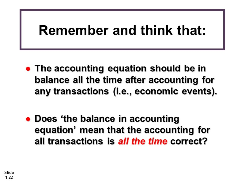 Chapter 1 Accounting in Action Explain what accounting