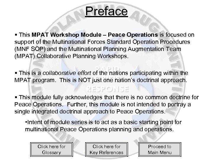 Peace Operations The Basics MPAT Workshop Module Series