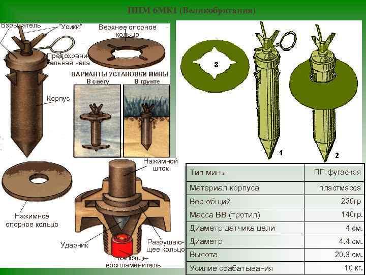 противопехотные мины фото описание совсем