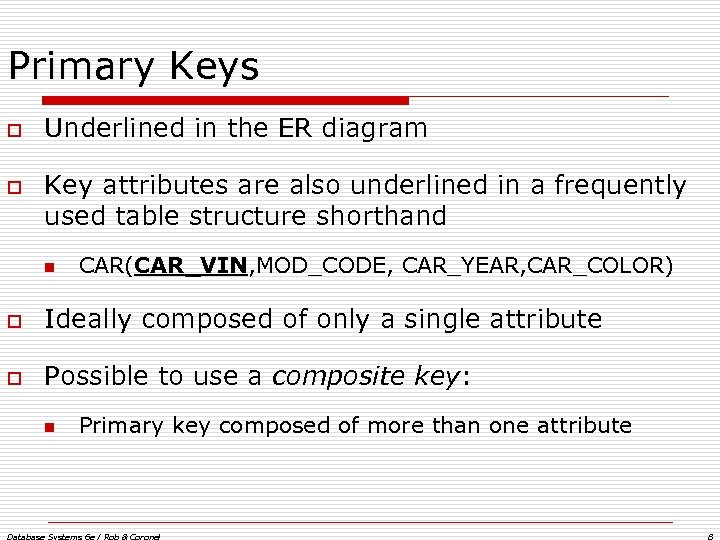 composite key in er diagram wiring light chapter 4 entity relationship modeling database systems primary keys o underlined the attributes are also