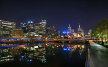 Melbourne Australia City Night