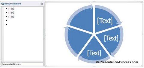 Five segmented circle