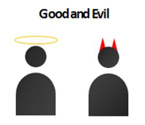 Good and Evil Icon