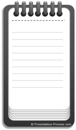 Notepad with dotted lines