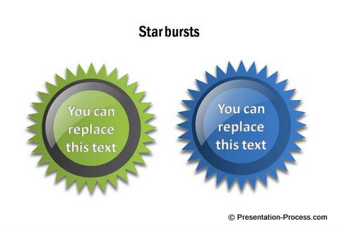 PowerPoint Star Shapes from CEO Pack 1