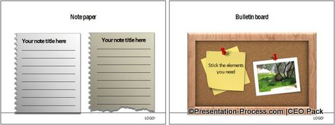 PowerPoint Notepad Element CEO Pack