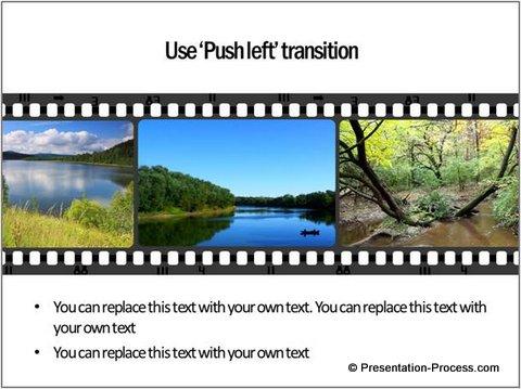 Push Left Transition Filmroll