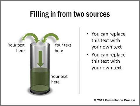 Transparent PowerPoint Cylinde