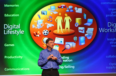 Bill Gates presenting