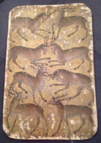 8 of Stags, Stuttgart Playing Cards, c. 1430.