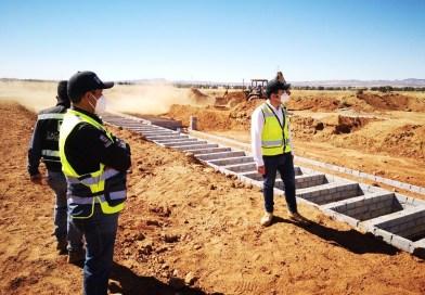 Construyen área COVID19 en panteón municipal en Zacatecas