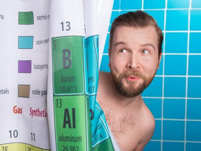 Periodiska Systemet Duschdraperi Image