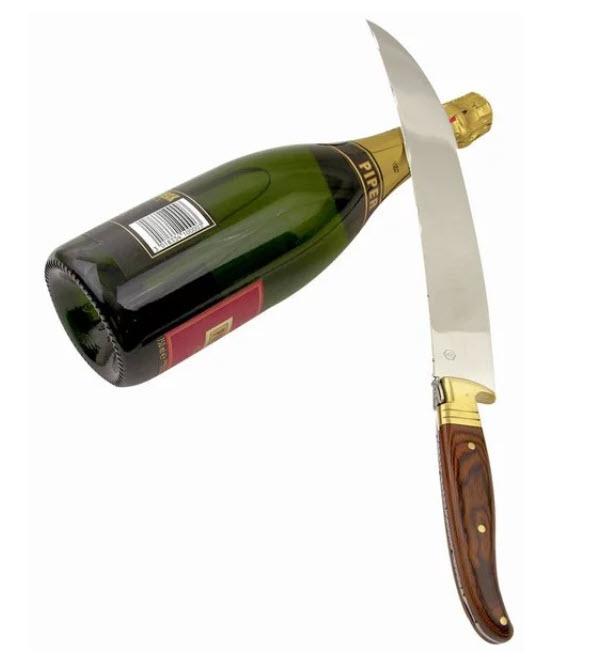 Laguiole La Roque Champagnesabel i träask Image
