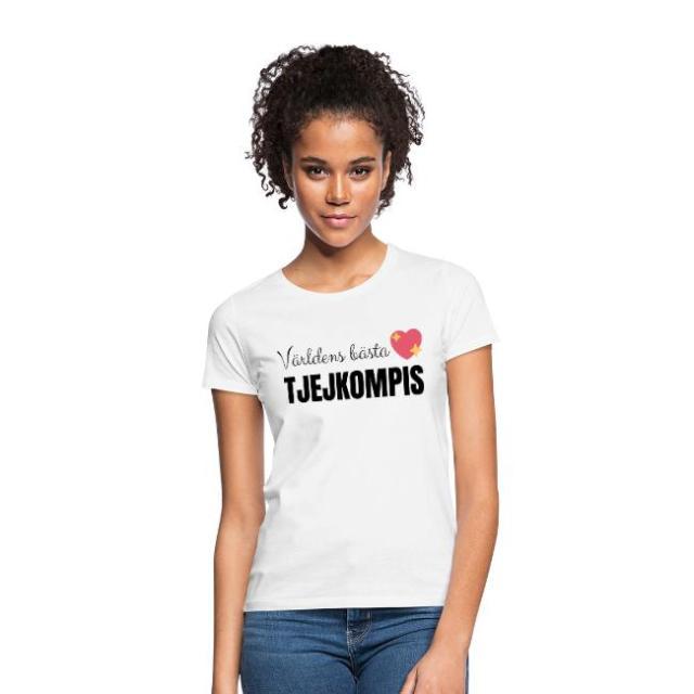 T-shirt dam - Världens bästa tjejkompis Image