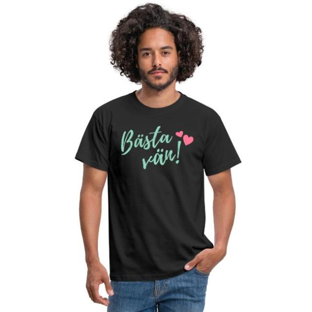 T-shirt herr - Bästa vän Image