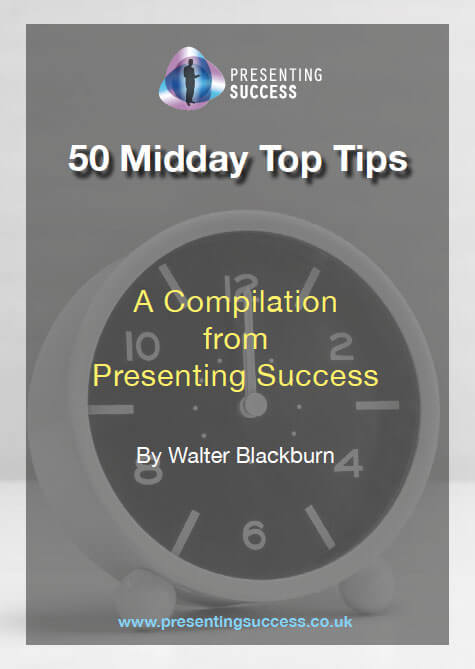 Front cover of the top tips for presenters guide