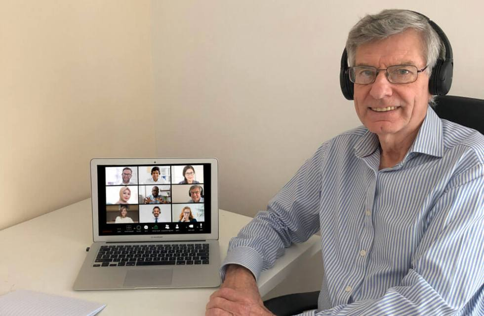 Walter Blackburn taking part in his Virtual Presenting with Confidence course