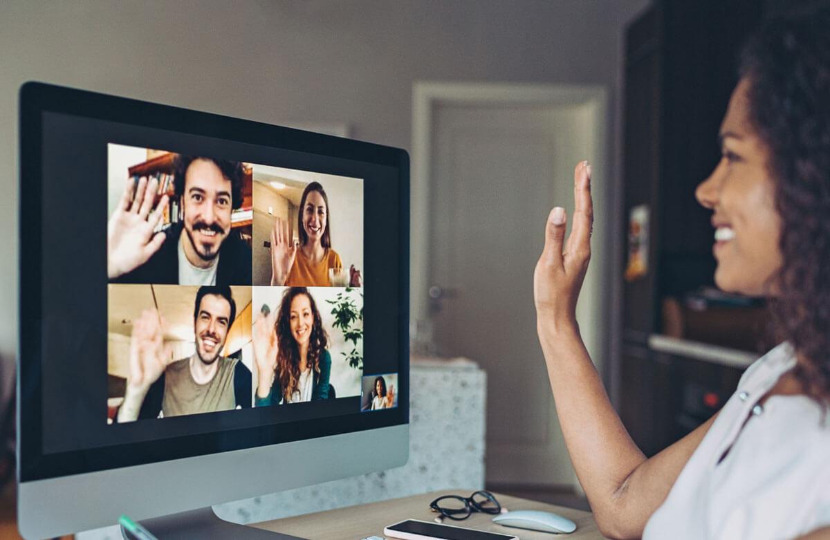 Virtual online presentation training