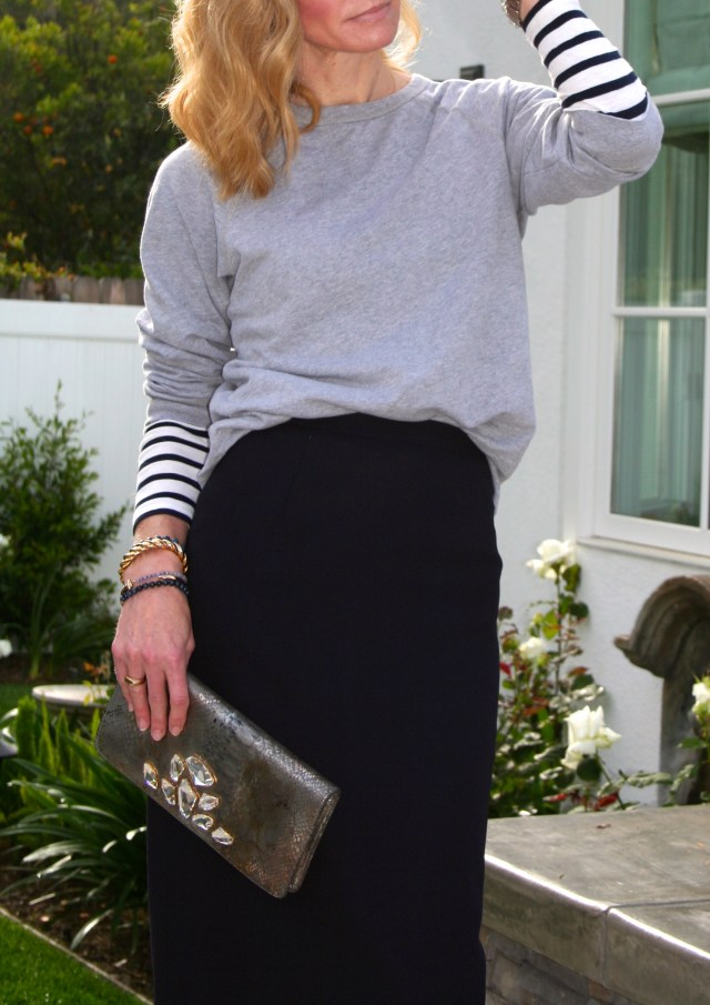sweatshirt and skirt