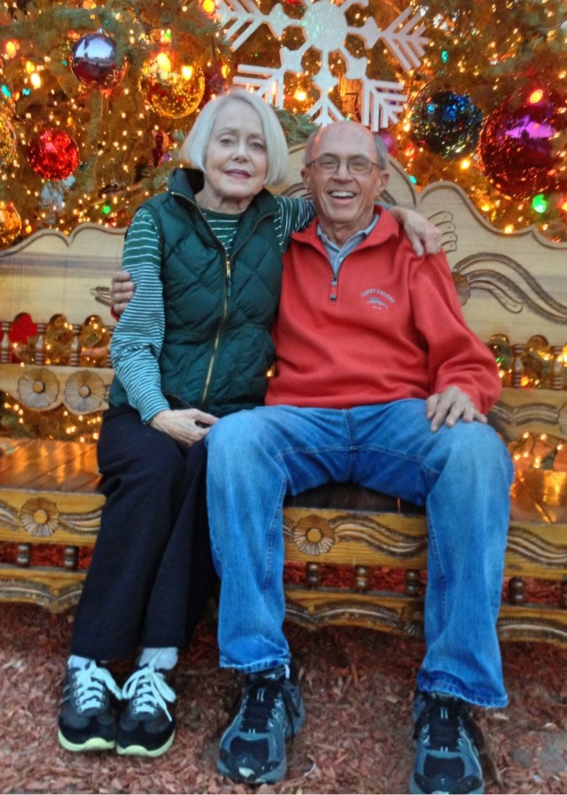 My parents in La Quinta at Christmas a few years ago