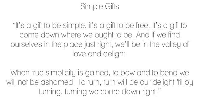 SImple Gifts-Lyrics-inspirational
