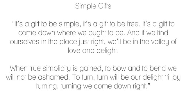 SImple Gifts-Lyrics-inspirational