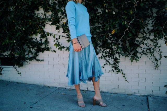cornflower blue outfit