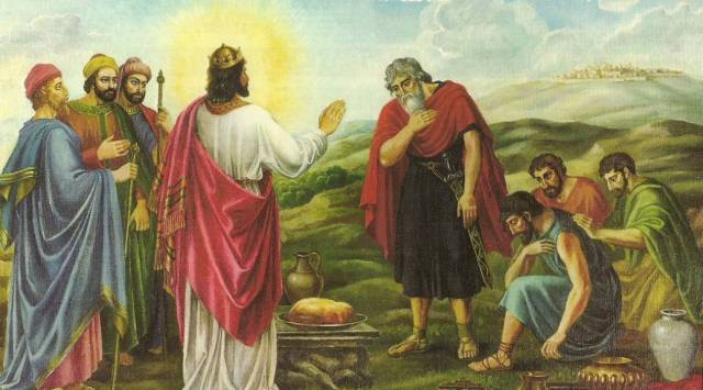 Melchisidec Meeting Abraham