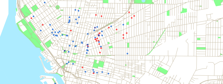 Current Status of the buildings inventoried in 1996