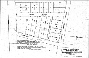 Plan of Greensboro Brick Company