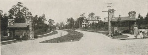 Sketches of Greensboro 1917 Elm Street at Sunset looking west
