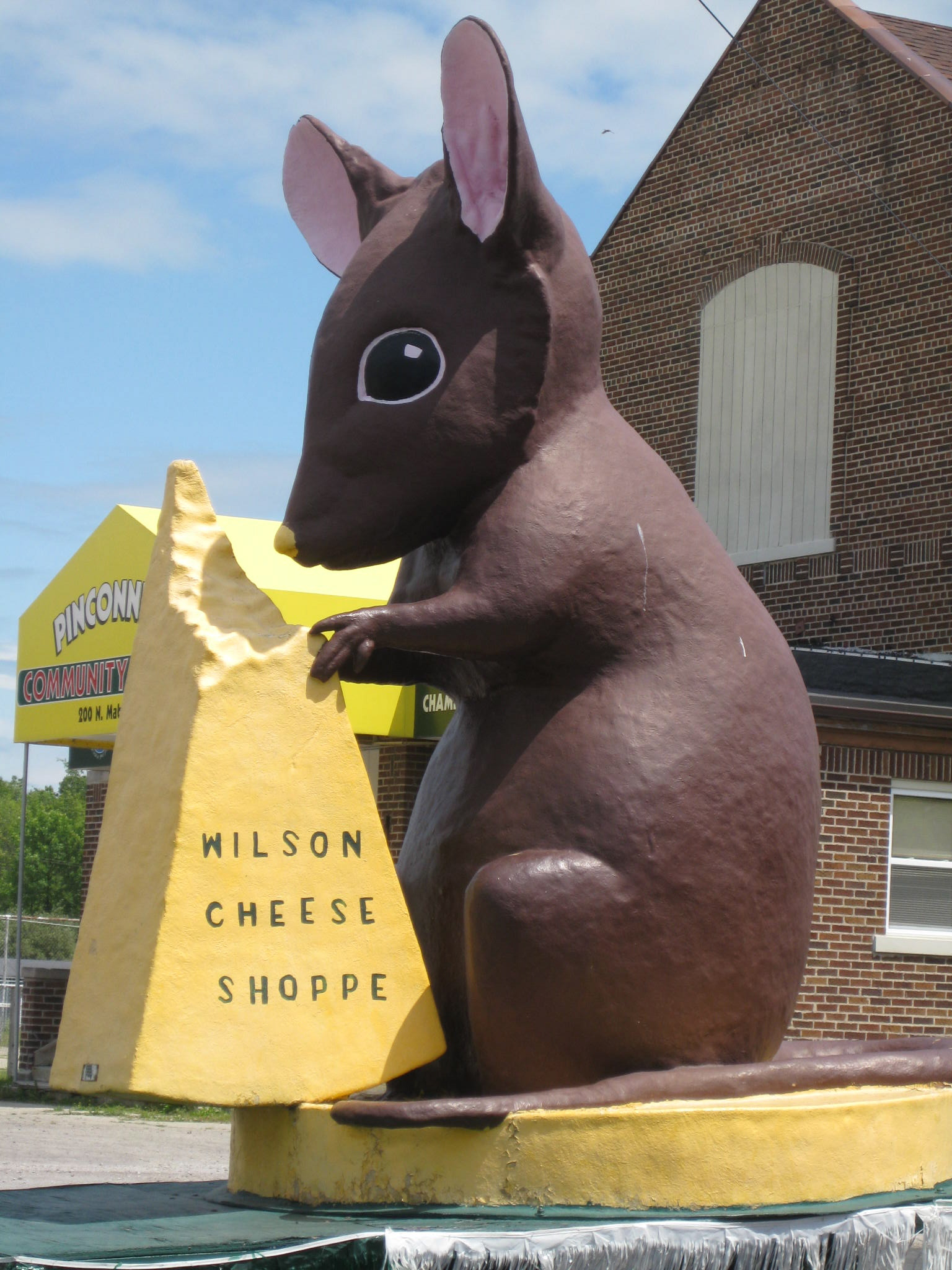 A giant mouse on US-24. We stopped to get its picture.