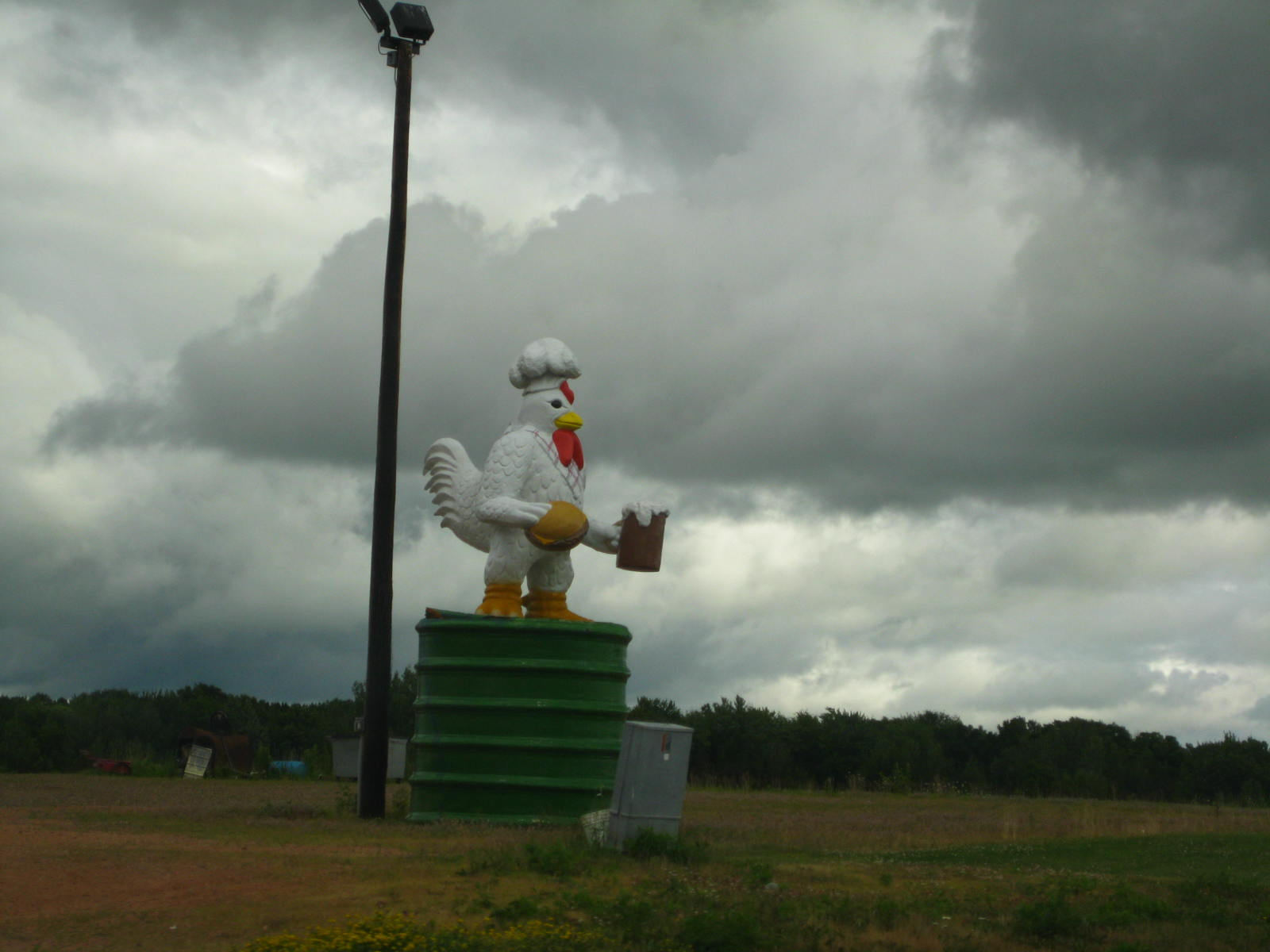 A giant chicken on Wisconsin 64.
