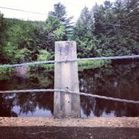 Concrete post and cable rail bridges, a rare type nowadays.