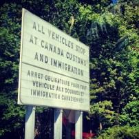 Crossing into Canada!