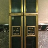 It's that time of year. Are you sending holiday cards? Handwritten or other? Seen here: mail chutes in the Empire Stare Building. #presinpink