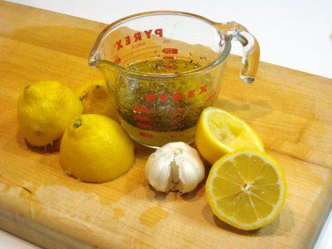 Homemade Lemon Garlic Salad Dressing Ingredients