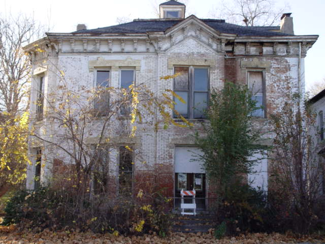 """The Frank L. Sommer House at 912 Main Street in St. Joseph, Locally Known as the """"Cracker House"""""""