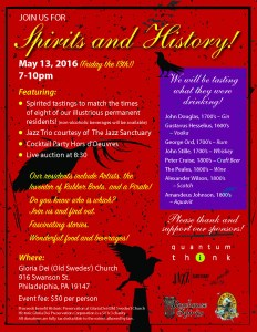 Spirits and History Event at Old Swedes'