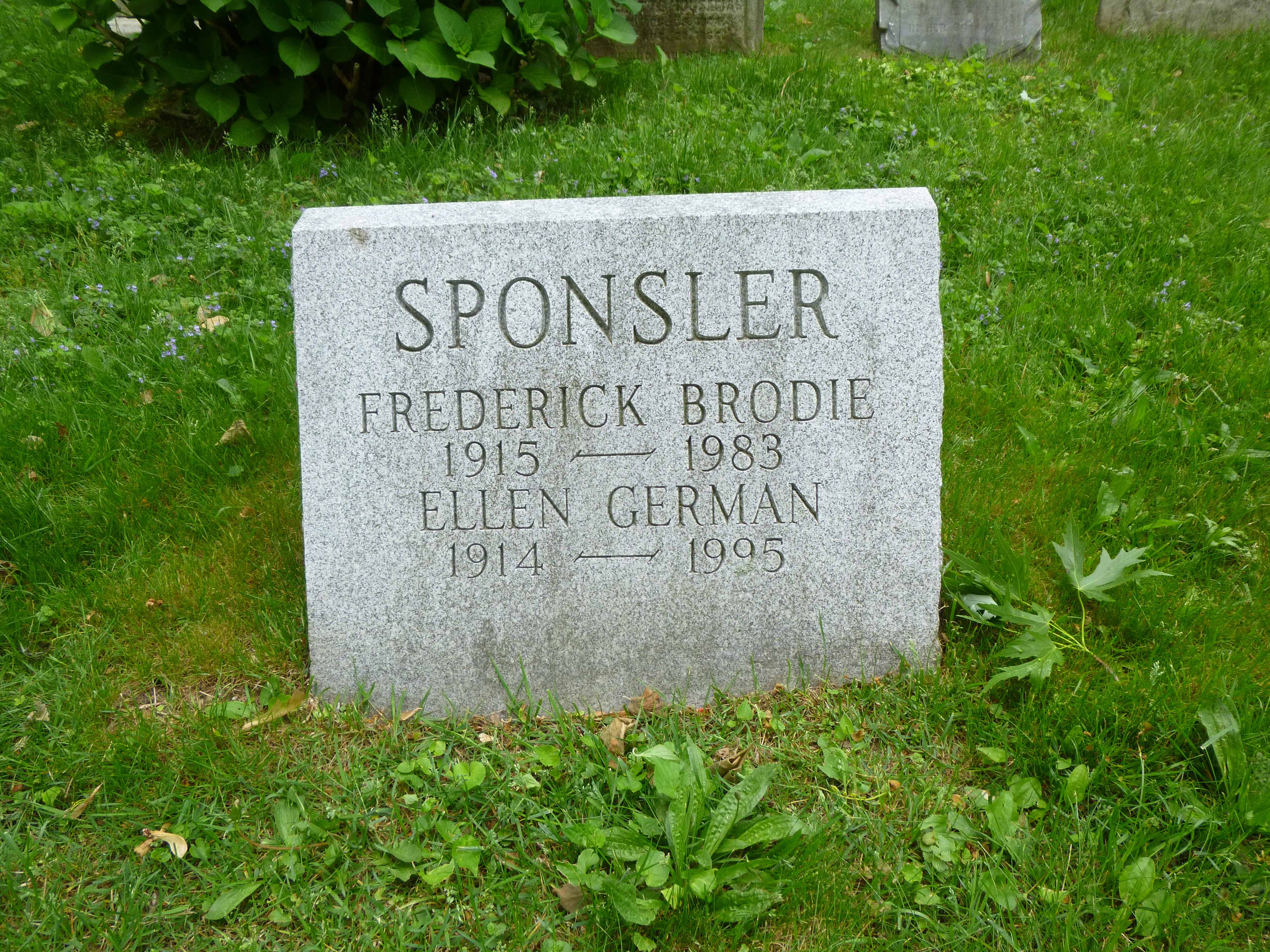 Read more about the article Frederick and Ellen Sponsler