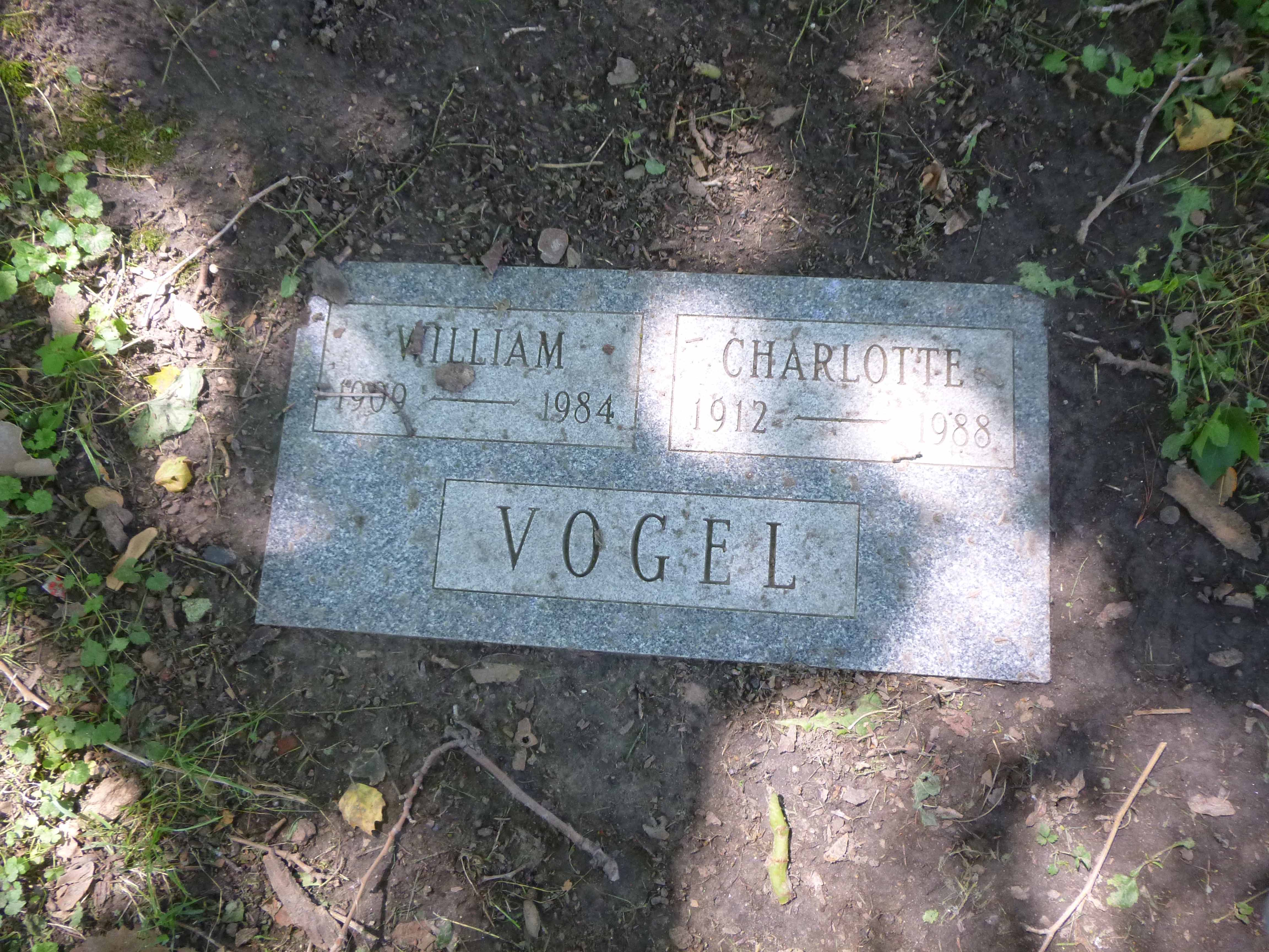 Read more about the article William and Charlotte Vogel