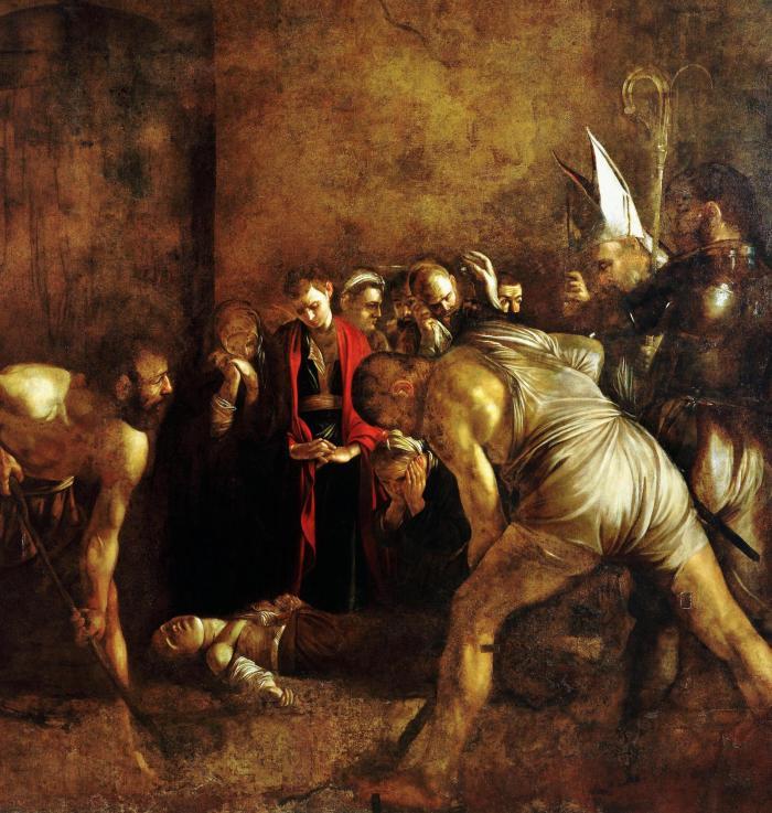 Burial of Saint Lucy, Caravaggio, 1608