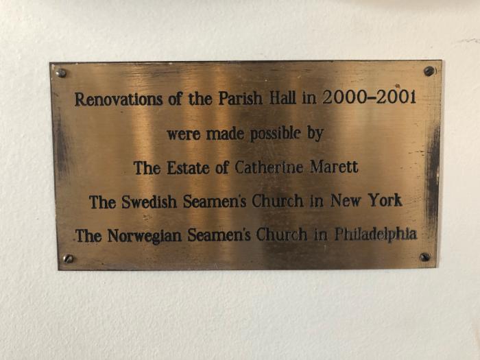 Parish Hall Plaque